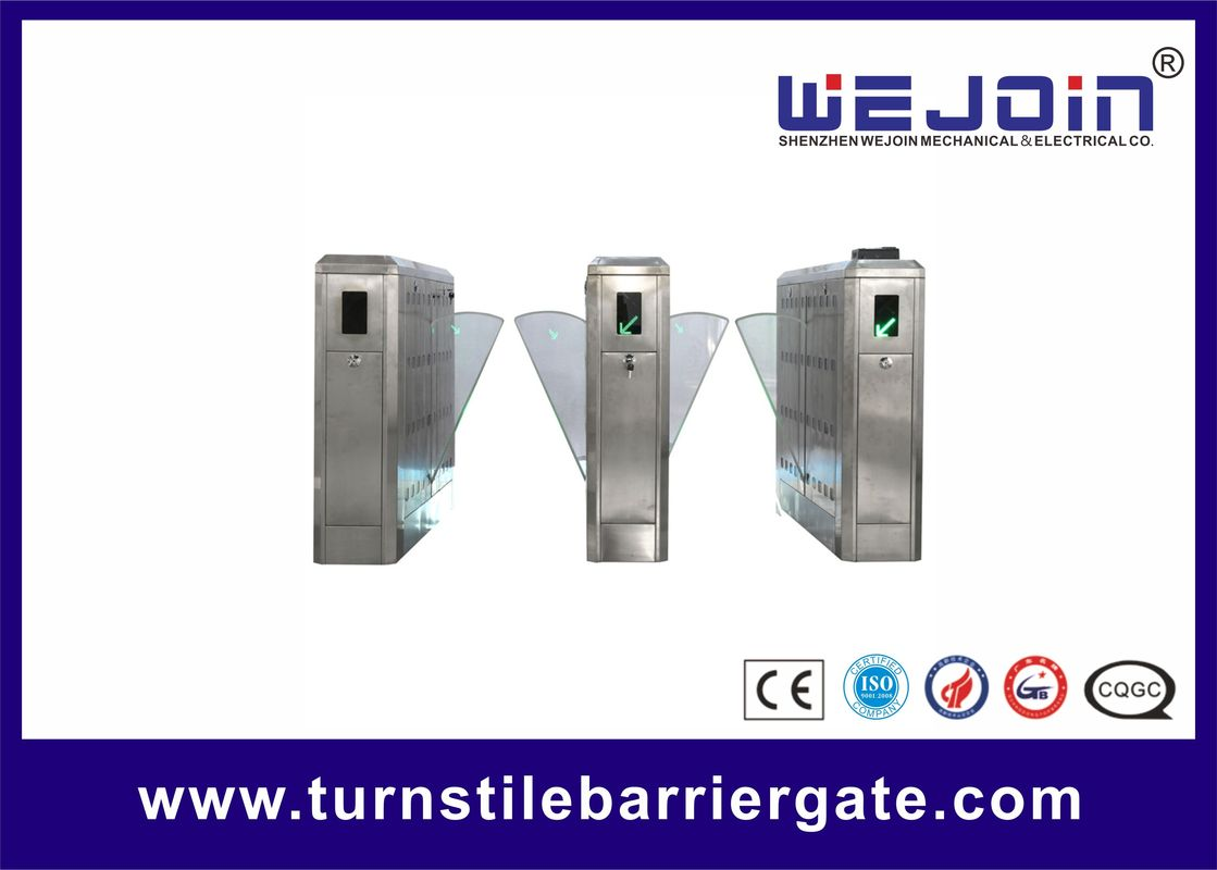 Access Control Flap Barrier Gate Anti Reversing Turnstile Gate Entry Systems تامین کننده