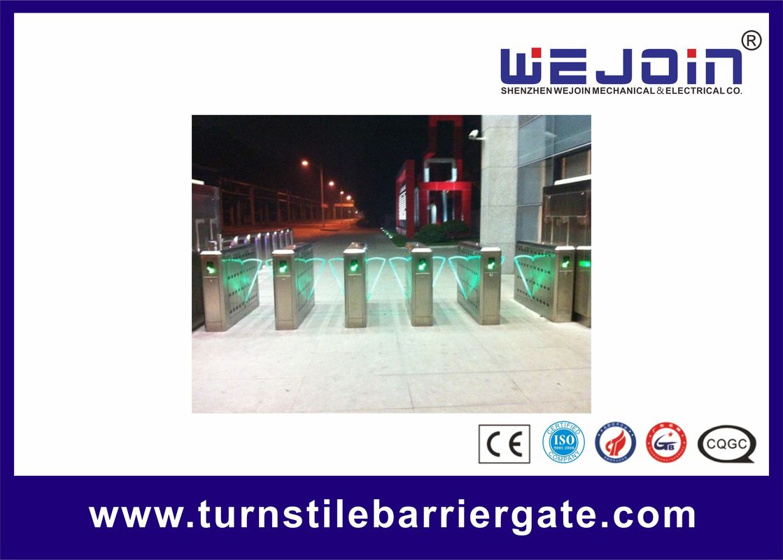 Security High Speed Flap Barrier Gate Entrance Turnstiles Stainless Steel تامین کننده