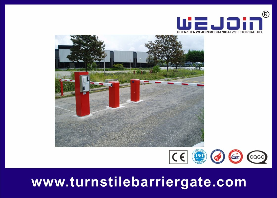 Straight Boom Automatic Car Park Barrier Gate Arms 8m Boom Length Aluminum Barrier تامین کننده