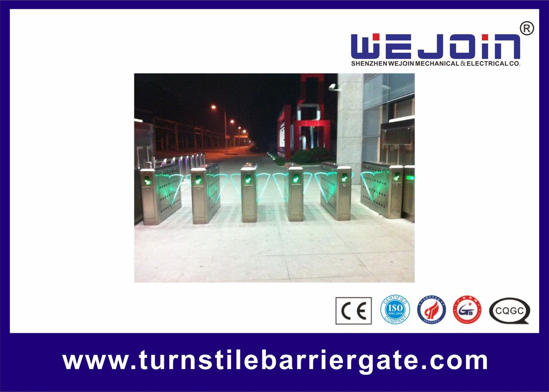 Intelligent Flap Barrier with 304 Stainless Steel Housing and Auto-reversing Function تامین کننده