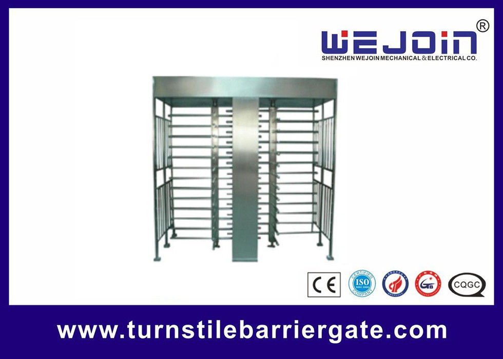 Stainless Steel Full Height Access Control Turnstile Gate CE Approved تامین کننده