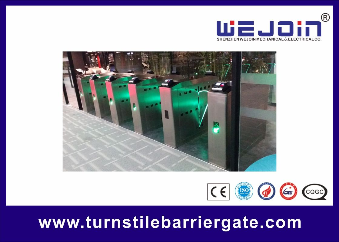 Intelligent Flap Barrier with 304 Stainless Steel Housing and Attendance System تامین کننده
